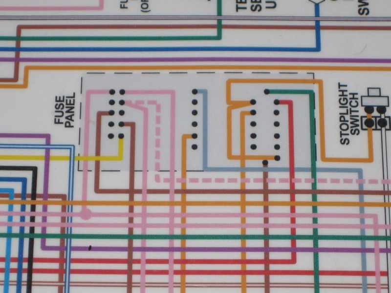 reading wiring diagram for 68 fuse panel team camaro tech into the fuse panel i m completely lost because i can t figure out what s connected to what in the fuse panel any ideas how i can make sense of this